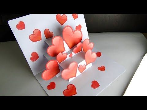 How To Make Pop Up Card I Love You Valentine S Day Card
