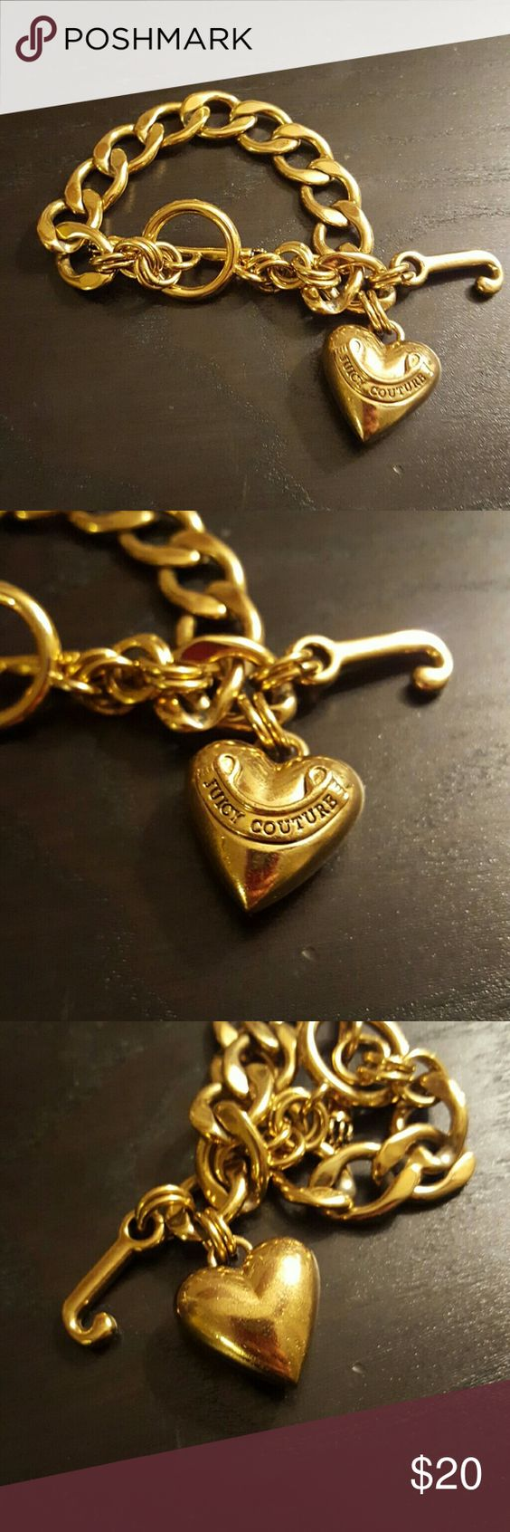Juicy Couture Starter Charm Bracelet Some Wear, Not Much Gold Starter  Bracelet To Wear