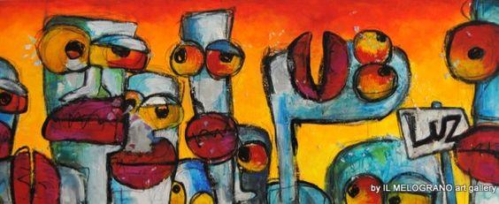 #LUZ  Boppers explosion   € 1200 #arteonline shop #art #pittura italiana