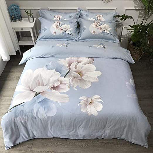 Taotaosjt Duvet Covers Tree Branch Flowers Deep Blue Duvet Cover Queen King Size Brushed Cotton Warm Soft Down C Bed Sheet Sets Blue Duvet Cover Down Comforter