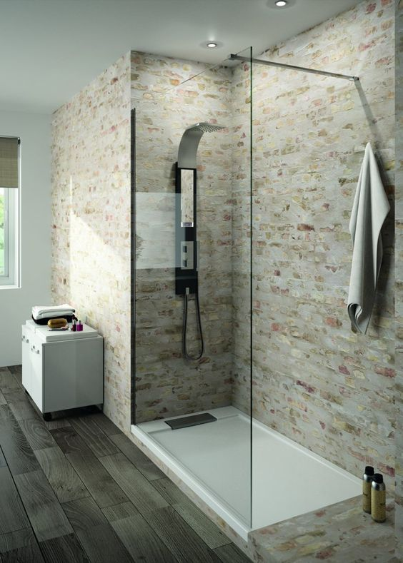 Pinterest le catalogue d 39 id es - Mur douche sans carrelage ...