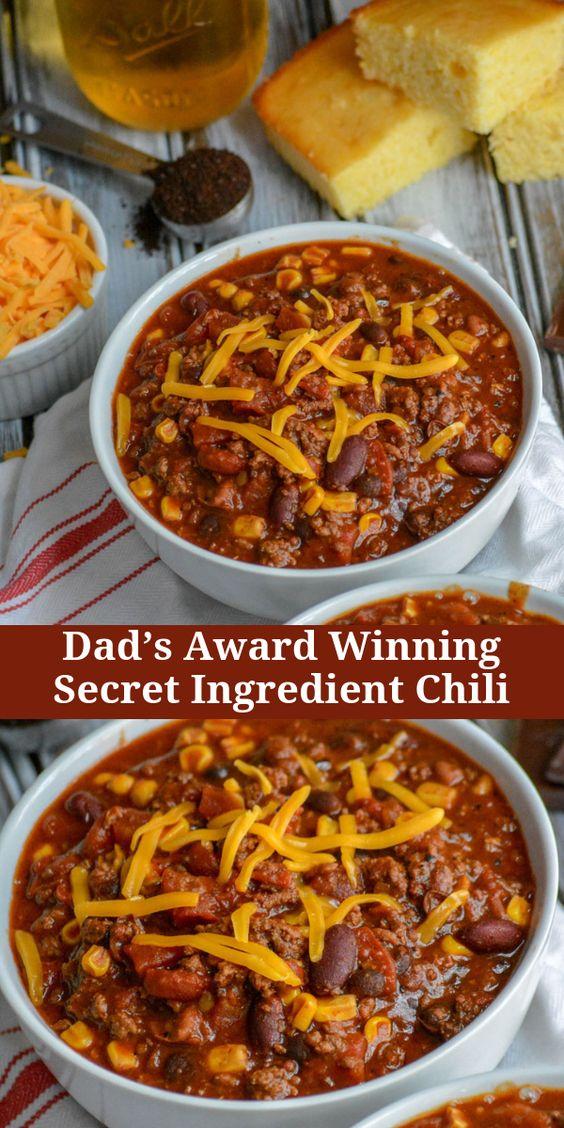 Dad's Award Winning Secret Ingredient Chili