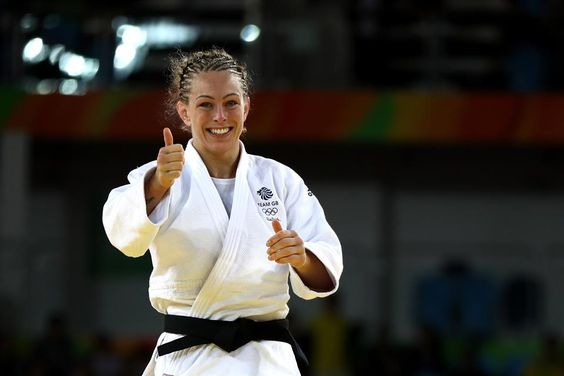 Conway gives the thumbs up as she claimed a judo bronze in Rio for Team GB