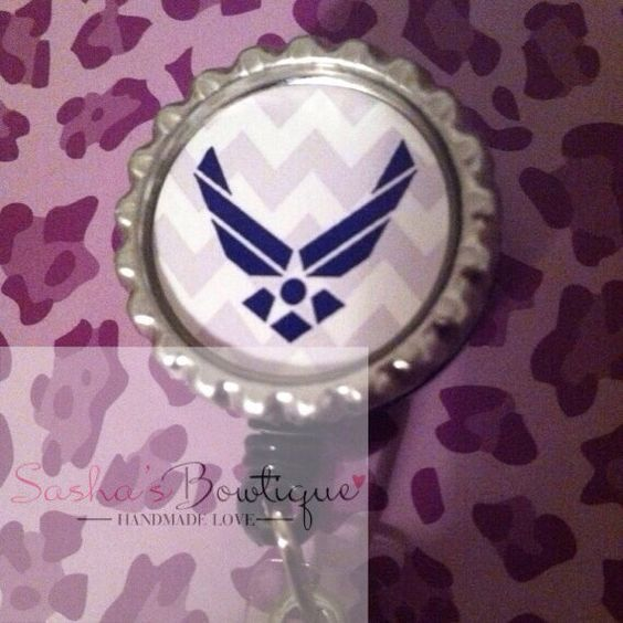 US Air Force - ID Badge Holder - Retractable ID Badge Reel on Etsy, $5.00