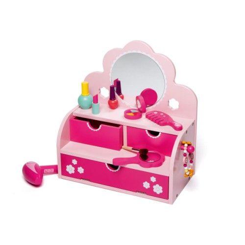 coiffeuse en bois oxybul pour enfant de 3 ans 8 ans oxybul veil et jeux cadeaux pour anna. Black Bedroom Furniture Sets. Home Design Ideas