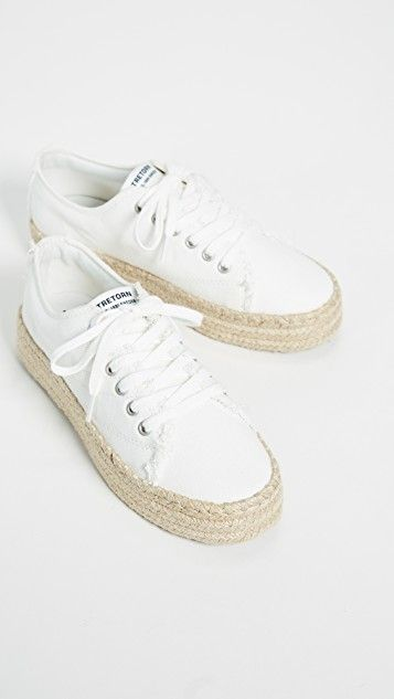 Eve Lace Up Espadrille Sneakers With Images Espadrille
