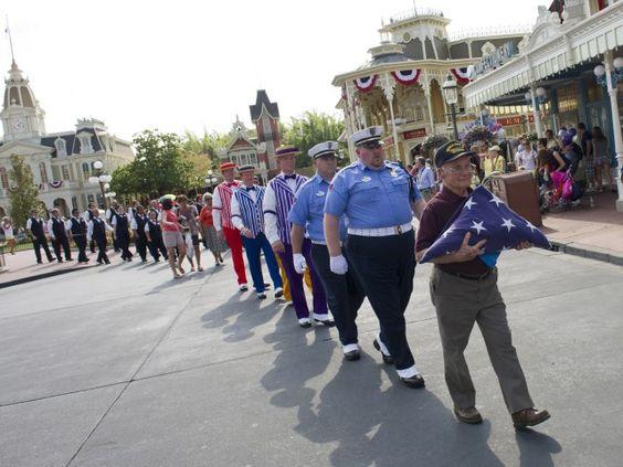 4th of July Flag Ceremony Magic Kingdom
