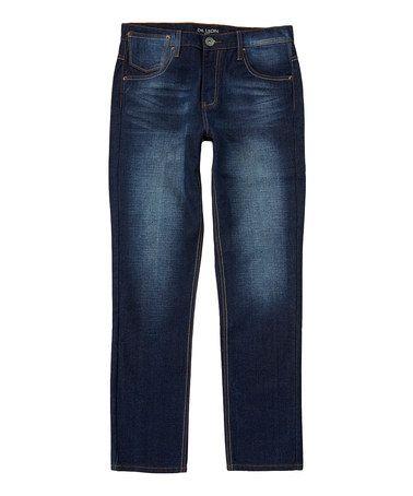 Another great find on #zulily! Dark Indigo Slim-Fit Straight Leg Jeans #zulilyfinds
