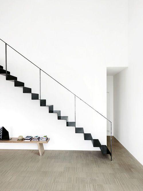 Black stair by Piero Lissoni.