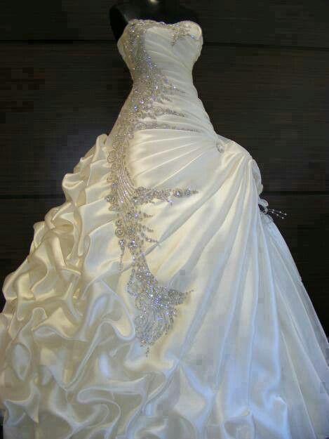 Love yhis bling  wedding dress