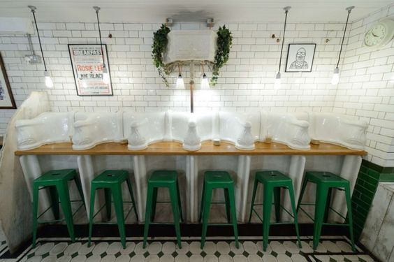 London's cafe's in converted toilets.  Of course, Manchester has been doing this for years.