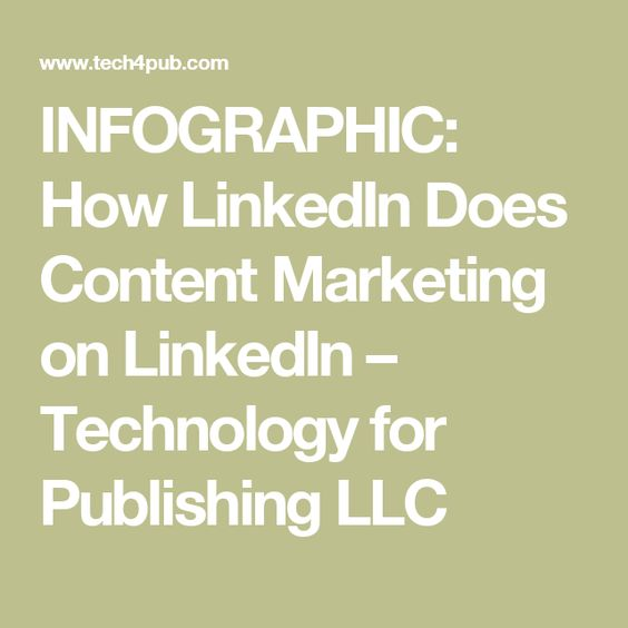 INFOGRAPHIC: How LinkedIn Does Content Marketing on LinkedIn – Technology for Publishing LLC