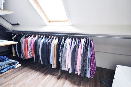Begehbarer Schrank auf dem Dachboden ist die Lösung