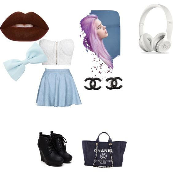 Untitled #4 by khanhiba on Polyvore featuring polyvore, fashion, style, NLY Trend and Chanel
