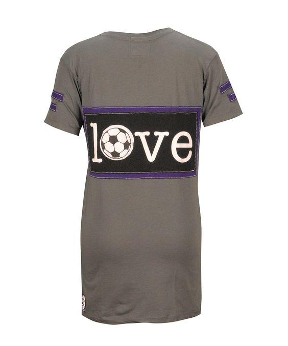 G Wear, LLC - LOVE Patch with Soccer Ball Asphalt Short Sleeve Fitted V Neck T Shirt, $60.00 (http://mygwear.com/love-patch-with-soccer-ball-asphalt-short-sleeve-fitted-v-neck-t-shirt/)