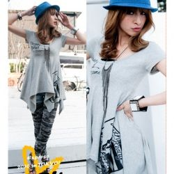 Beautiful Cotton Material Spring / Summer Grey Blouse For Women