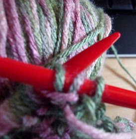 this looks so complicated   but it isn't   it is just the order in which you knit the stitch   like a one stitch cable!!!!!   I work on...