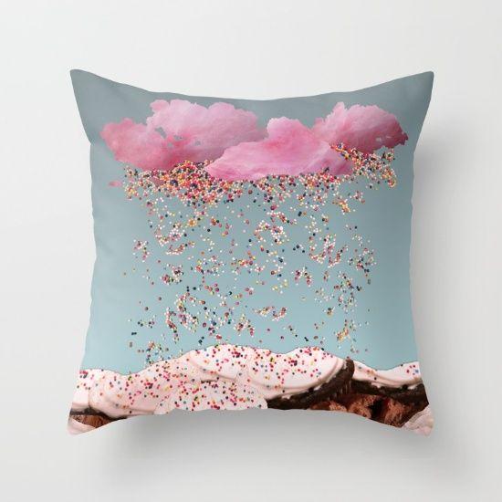 """Sprinkles"" throw pillow."