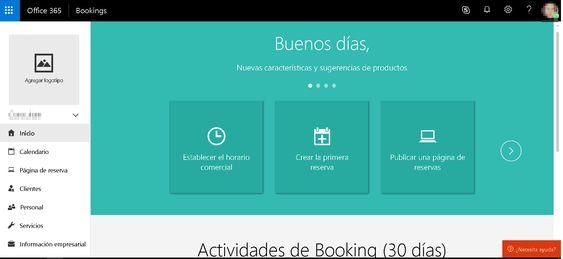 Página de Inicio Ms Bookings