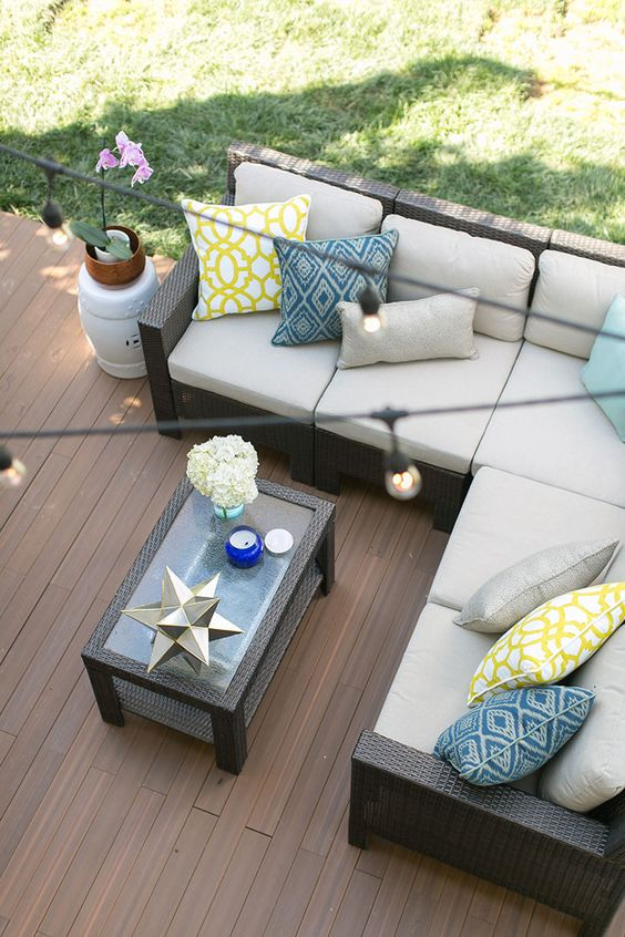 Laying decking Deck flooring and Concrete patios on Pinterest