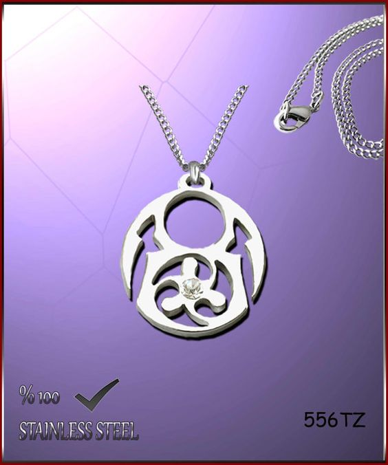 Axcesi 556T Symbol pendant  stainless steel 28x25mm   by Axcesi