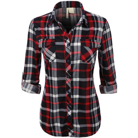 1000 ideas about plaid flannel shirts on pinterest for Black watch plaid flannel shirt
