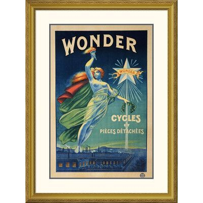 Global Gallery 'Wonder, Cycles Et Pieces Detachees' Framed Vintage Advertisement Size: