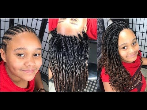 364 They Look Just Like Regular Braids Youtube Little Girl Box Braids African Braids Hairstyles Afro Hair And Beauty