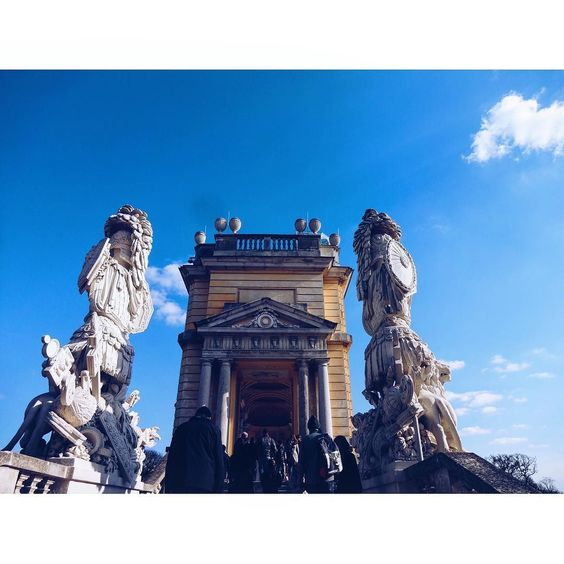 """georg_1804: """"With @letter.lena #gloriette#schönbrunn#vienna#bluesky#architecture#architecture#clouds#wien#austria#"""""""