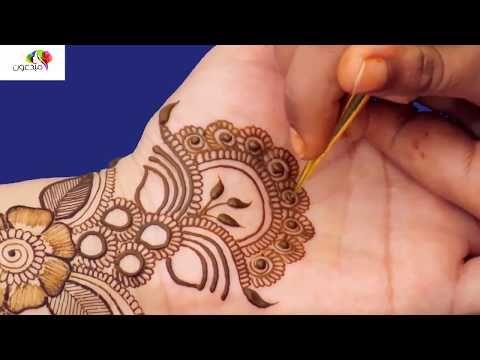 تعيلم رسم حناء على اليد بالشكل الهندى الجزء الاول جديد 2018 Youtube Hand Henna Mehndi Designs Henna Designs