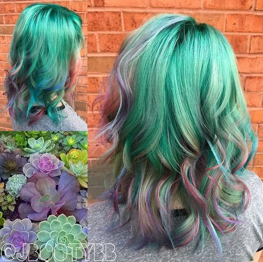 Summer Hairstyles Cactus Color Melt Channel Your Inner Forest Fairy With Succulent Hair Photo