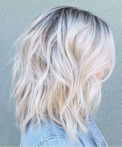 Short Divine Balayage to Platinum Blonde Hairstyles 2019 for
