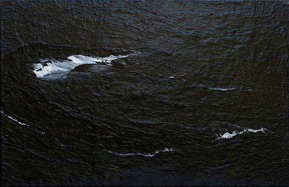 Westmännerinseln 04.03.10, 2010, Acryl auf Leinwand, 155 x 240 cm