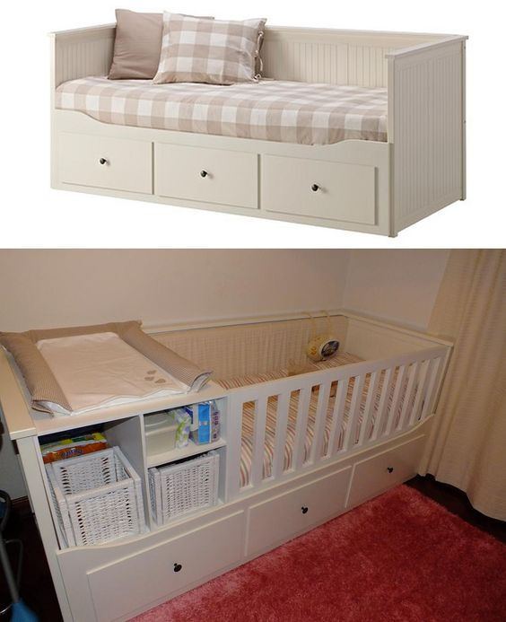Ikea Hemnes Wickelkommode Berlin ~ Transform Hemnes bed of IKEA into a baby bed  cod  500 803 15