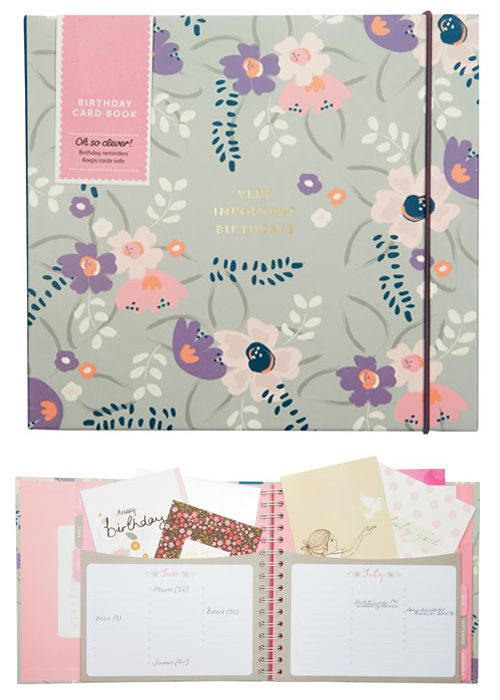 Birthday Card Organiser Floral 2019 Birthday Cards Card Organizer Cards