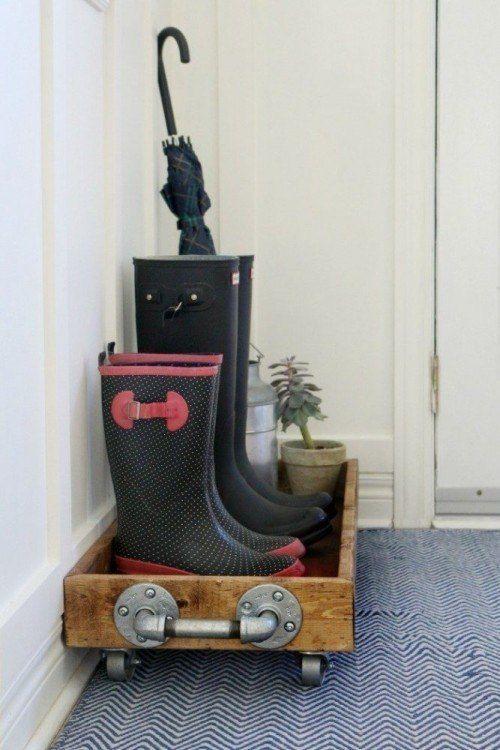 Make a shoe/boot tray