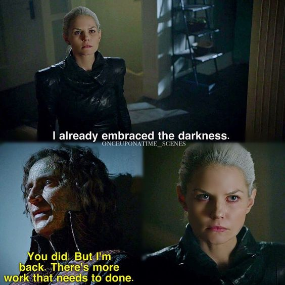 """""""I already embraced the darkness"""" - Dark Swan and Rumple (as Dark One conscience) #OnceUponATime"""