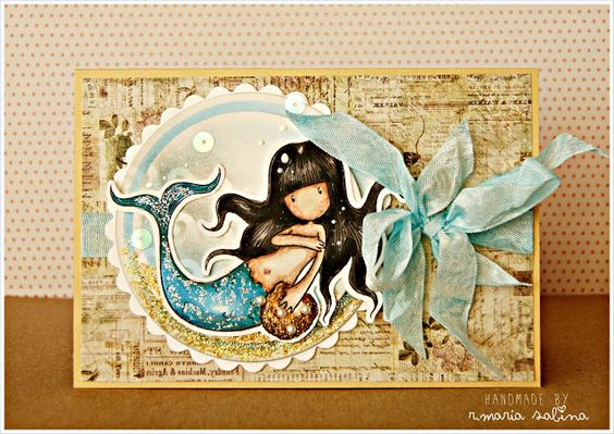 [Gorjuss] Awashed | blue and caramel | Lollycrot scrapbooking