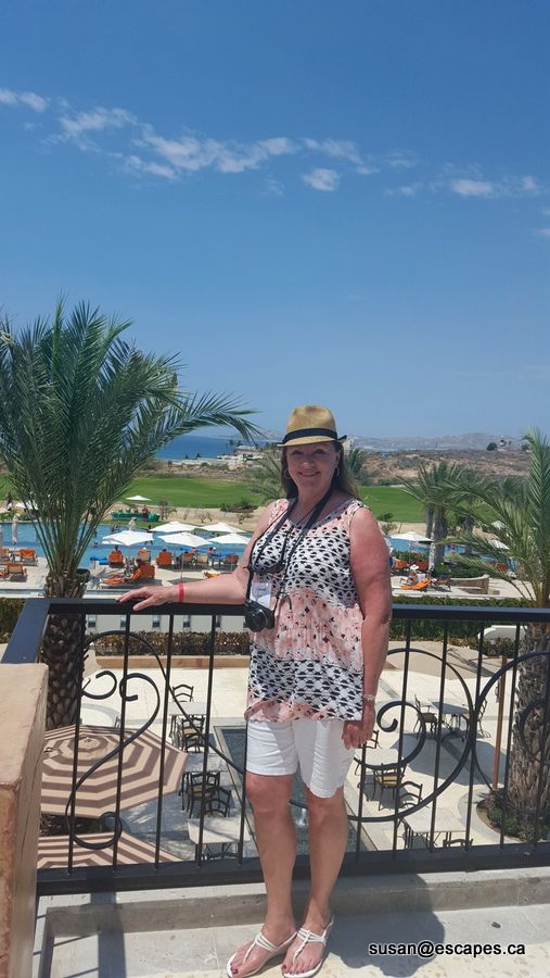 Secrets Puerto Los Cabos. Susan, enjoying the gorgeous setting. Do you see yourself here?