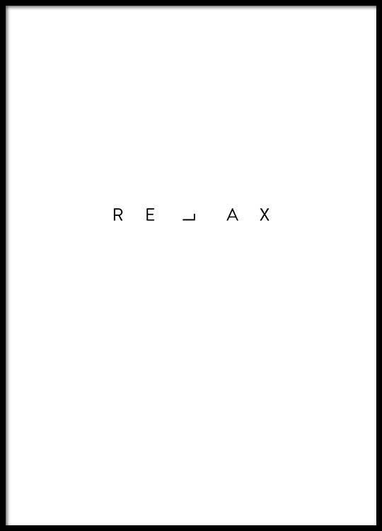 Relax Print Affiche Fond D Ecran Citation Tatouage Au Henne Mini Dessin
