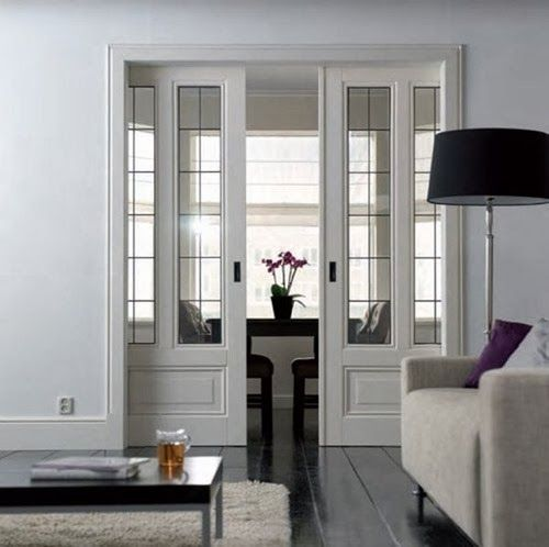 On My Mind: Design Details--pocket doors entrance into study or library