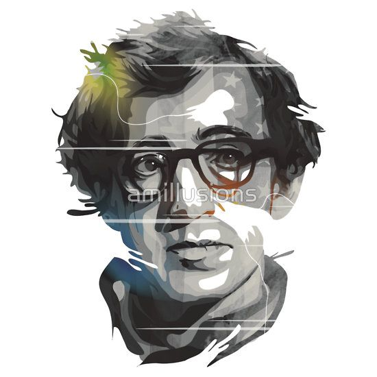 Woody Allen Black Portrait Design For Sale http://www.redbubble.com/people/amillusions/works/12294434-woody-allen-black-portrait-design?ref=recent-owner