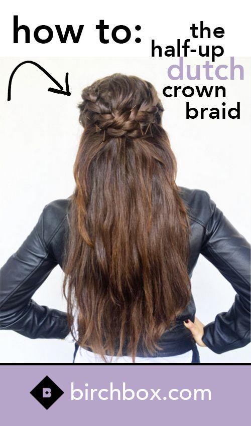 How to: Half-Up Crown Braid