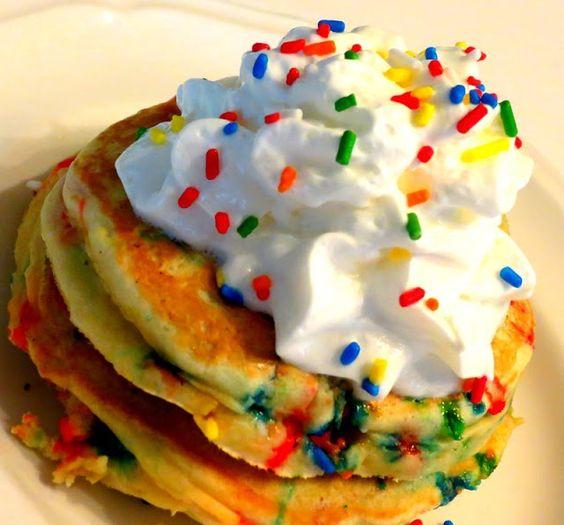 Birthday Cake Pancake Recipe With Nectresse Sweetener
