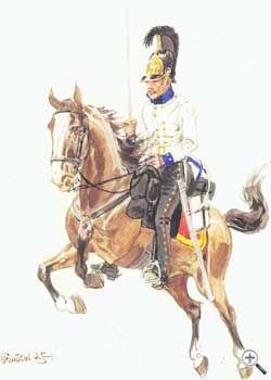 Униформа рядового прусского Бранденбургского кирассирского полка, 1813 год - Uniformen Privat Brandenburg preußischen Kürassier-Regiment 1813