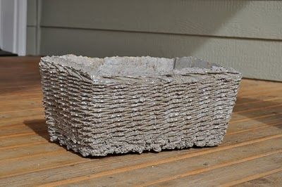 how to make your own flower pots using concrete, peat moss, and perlite
