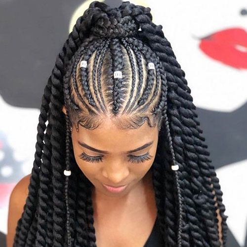50 Cool Cornrow Braid Hairstyles To Get In 2020 In 2020 African Braids Hairstyles Cornrow Hairstyles Girls Hairstyles Braids