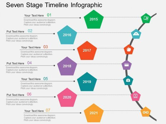 Seven Stage Timeline Infographic Powerpoint Templates  Powerpoint
