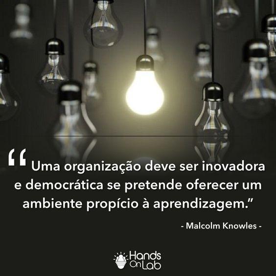 Como está a sua organização? Ela se preocupa em criar um ambiente participativo e que estimula o aprendizado? É centrada em pessoas? O que você tem feito pelo crescimento de sua equipe? #empresas #empresários #organização #democracia #inovação #aprendizagem #handsOnLab