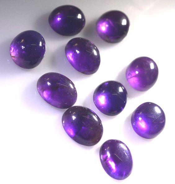 Amethyst Loose Gemstones 1 Pieces 10 X 12 Mm Oval Purple Cabochon Gemstone By RiyoGems Https
